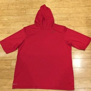Men's Nike Hooded Dri-Fit Short Sleeve Shirt